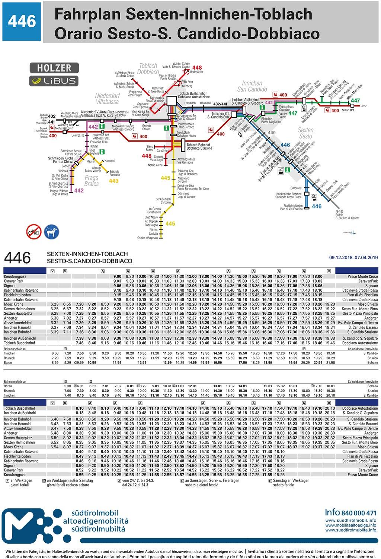 Servizio di linea: Orari autobus in Val Pusteria - Holzer Servizio ...